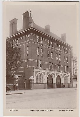 Lewisam  Fire Station  London ,  Fireman's  Wife At Window,  Rotary R/p/pc