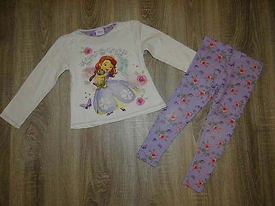 Girls DisneySophie The First outfit/leggings & glittery top/ 2piece set 4-5years