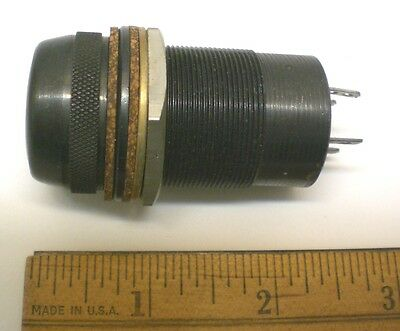 1 Rare Dialight Pilot Lamp Assembly for Dual MB Lamps, Made for Military, USA