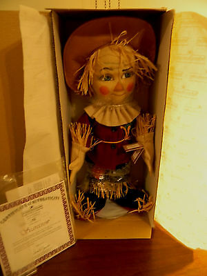 Scarecrow, Original Issue In The Wizard of Oz Felt Doll by Ashton Drake, No. 198
