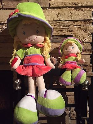 Green and Pink  Emily doll,  Velvet texture 18 inch high and 7.9, CE certified,
