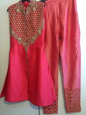 Heavy Indian pyjama pyjami suit lengha sari RAW SILK MATERIAL
