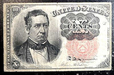 Very Nice 1874 1875 Fractional .10 Cent Note FR 1265