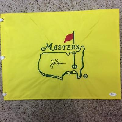 Jack Nicklaus Signed Auto Autograph Undated Masters Flag W/ JSA