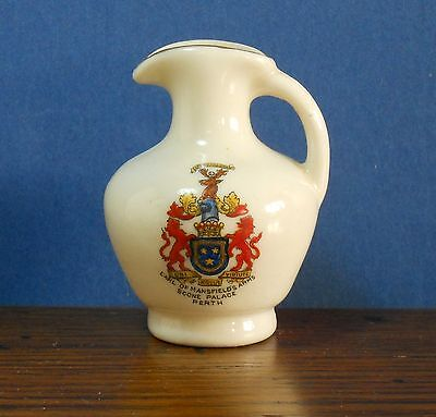 Arcadian crested China Little Chester Roman Vase Crest of Scone Palace Perth