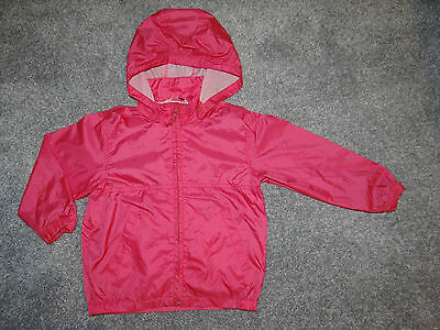 Girls H&M raincoat/ Pac a Mac/ Cag in a Bag/ Cagoules Pink age 3-4 years