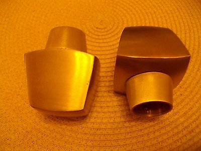 Brushed Gold Metal Curtain Finials  28Mm