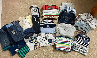 Newborn First Size Huge Baby Boy Clothes Bundle - Mothercare Disney M&S