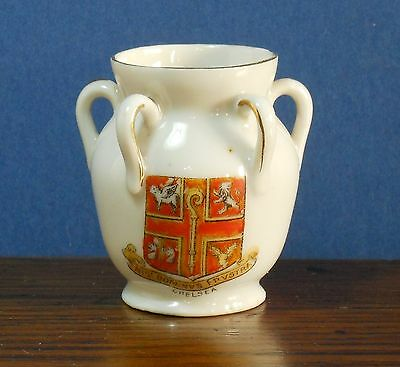 A Crested China model pot with Crest of Chelsea * Gift Idea