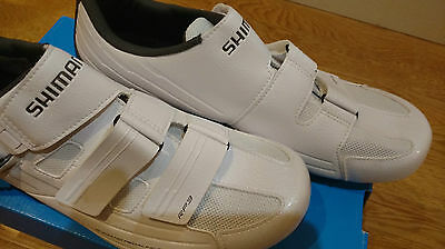 Shimano RP3 road cycling shoe - white, size 48, wide fit