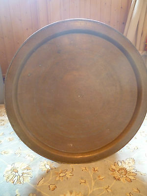 Antique Large Art Deco Brass Tray Morocco / India / Middle East 58.4 Cm Animals