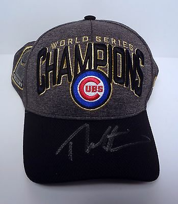 Theo Epstein Signed Autograph Chicago Cubs World Series Ws Championship Hat Coa