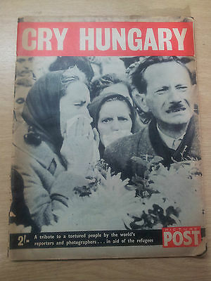 VINTAGE MAGAZINES: PICTURE POST Special Issue - CRY HUNGARY November 1956 rare