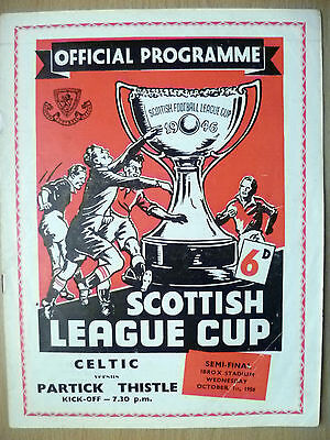 1958 Scottish League Cup SEMI FINAL- CELTIC v PARTICK THISTLE, 1st October
