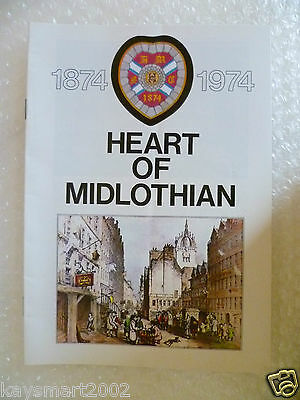 1874-1974 Heart Of Midlothian Year Book (Exc*)