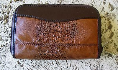 New Bufo Marinus Cane Toad Skin Leather Small Clutch Organizer Collectible