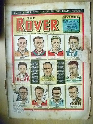 Comic- THE ROVER, NO. 1501, 3rd April 1954; Most Famous Footballers