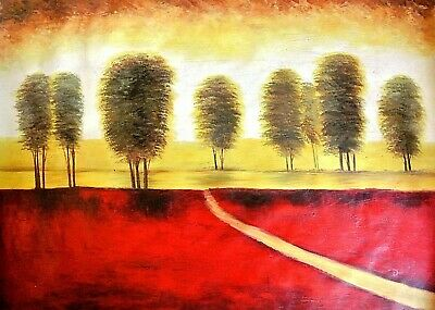 """Dual-""""Brush Fire""""-Original Oil Painting on Canvas, Hand Signed 48"""" x 36"""" Image"""