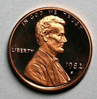 1982 S Lincoln Cent Gem Deep Cameo Proof US Coin