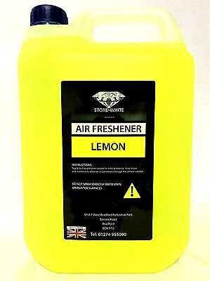 5 litre LEMON SCENTS Concentrate liquid car air freshener stonewhite fresh NEW X