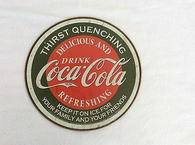 Coca Cola Coke Thirst Quenching Advertising Vintage Retro Style Metal Tin Sign