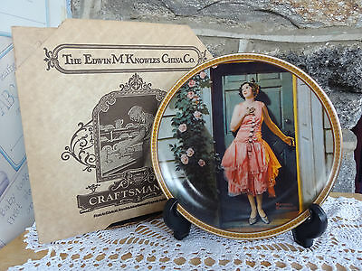 VTG Knowles China Rockwell Series Rediscoverd Women Collector Plate 1983 MIB COA