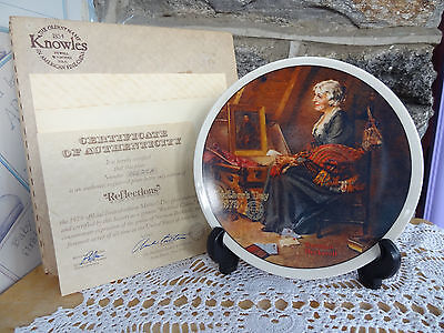 Vintage Knowles Norman Rockwell Mothers Day 1979 Collector Plate MIB COA
