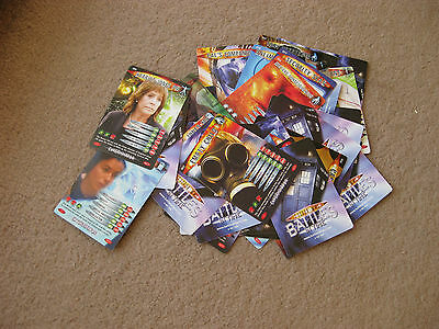 A Batch Of 31 Doctor Who Cards Battles In Time From 2006,many Characters Shown.