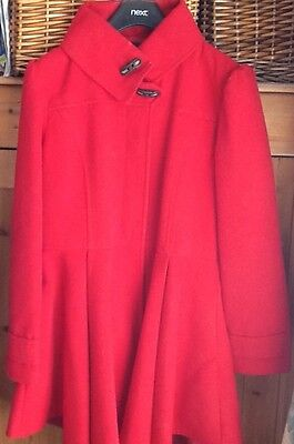 Next Girls Red Winter Coat Age 15 - 16