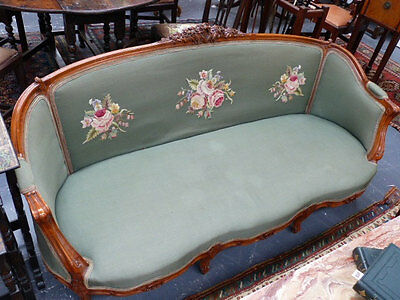 Antique French style show frame salon sofa for upholstery or painting