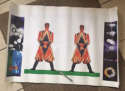 David Bowie 'Earthling' Advanced Uncut Test  Poster for cardboard cut out