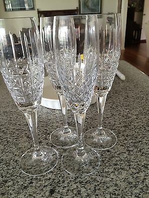Crystal-Cut Glasses -Mikasa Champagne and Beer/Water