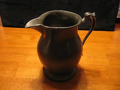 Vintage Early American Pewter 7 inch Pitcher