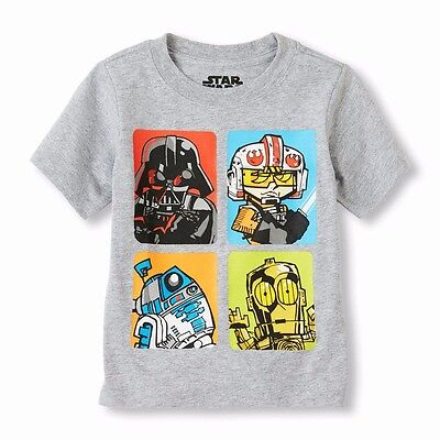 Star Wars Darth Vader Trooper R2-D2 C-3Po Baby Toddler Boy Girl T Shirt Top 4T