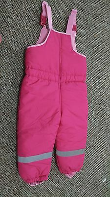 Mothercare Girls  sleeveless Snowsuit Size 2-3 Years Worn Once