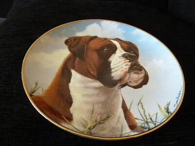 9755) Lovely collector's plate Danbury Mint His Master's Call The Boxer Mendez