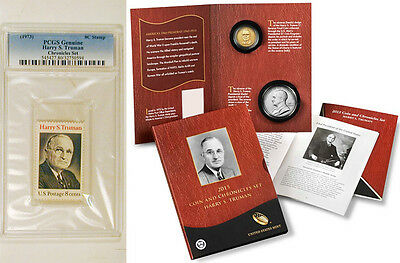 3015 Harry S. Truman Coin Set PCGS graded Genuine Stamp