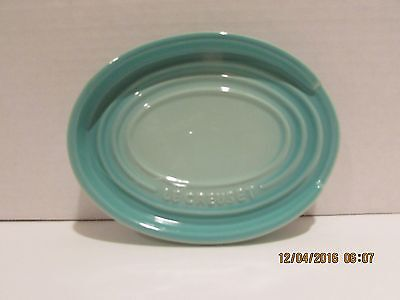 Le Creuset Oval Spoon Rest..cool Mint....new