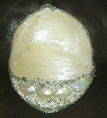 1920s ORIGINAL FULLY BEADED FLAPPER HAT HEADPIECE GREAT GASBY SHOWGIRL