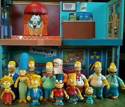 Playmates Simpsons 62 Action Figure 11 Play Set Lot Incomplete Toy Collection