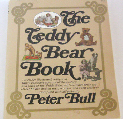 History and Roles of the Teddy Bear - Teddy Bear Book by Peter Bull Vintage '70