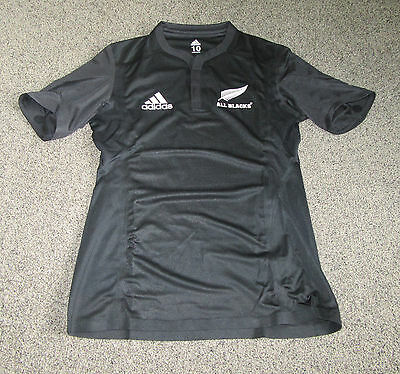 New Zealand All Blacks Adidas Player Issue Rugby Jersey Shirt Maillot Ultra Rare