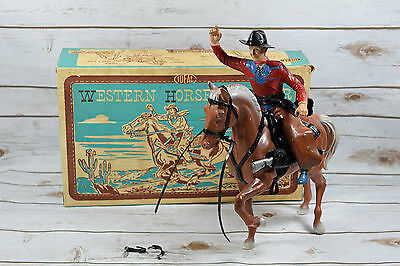 Vintage Ideal Toy Company Western Horse and Rider with Original Box