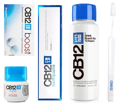 CB12 Oral Care Bundle (Mouthwash, Toothpaste, Gum, Toothbrush) BEST VALUE