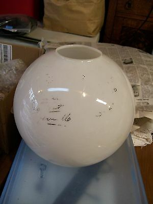 Antique Gone With The Wind Lamp Glass Globe White Shade Round Ball Lamp Top Old