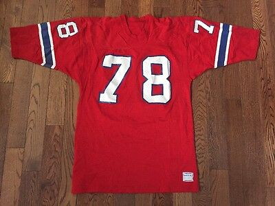 Vintage 70's Game Worn Tony McGee New England Patriots Sand Knit Football Jersey