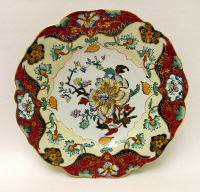 Antique Mason's Patent Ironstone China Floral Plate 1830
