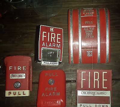 LOT 5 VTG FIRE ALARM PULL BOX EDWARDS Notifier PROTECTOWIRE Man Cave Mantique