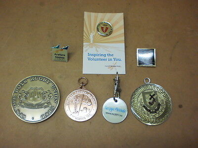 Medals & Badges Assorted Qty. 7, Not Issued,  New.