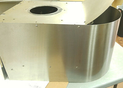 Sonofresco Coffee Roaster Stainless Steel Used Vent Hood w replaced Motor
